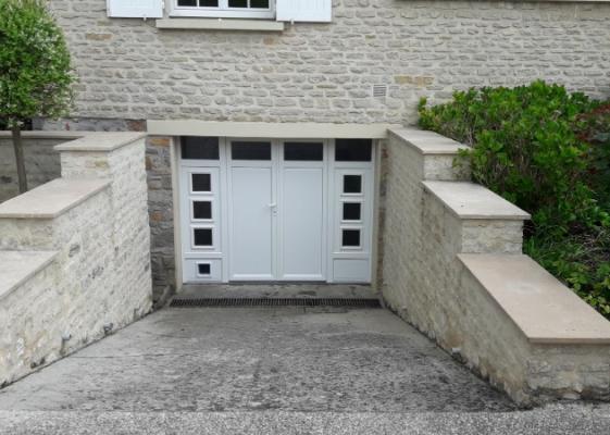 installation porte garage falaise